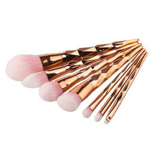 ON SALE 7pcs Diamond Shape Professional Oval Makeup Brush Set