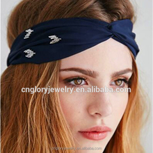 Fashion fabric knot headband wholesale head wraps