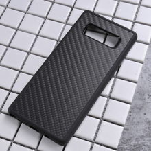 Luxury mobile accessories hybrid PC+TPU groove inlay phone cases sticking carbon fiber for Samsung note 8 case