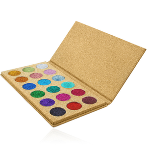 Custom Private Label 18 Color Powder Pressed Glitter Makeup Eyeshadow Palette