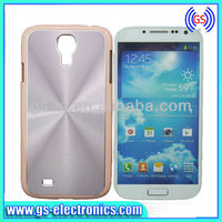 2013 New bling bling aluminium pc cd skin case silver for sa,samsung galaxy s4