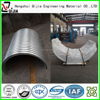 pipe galvanized steel 100 mm irrigation oil and gas pipe semi circle pipe