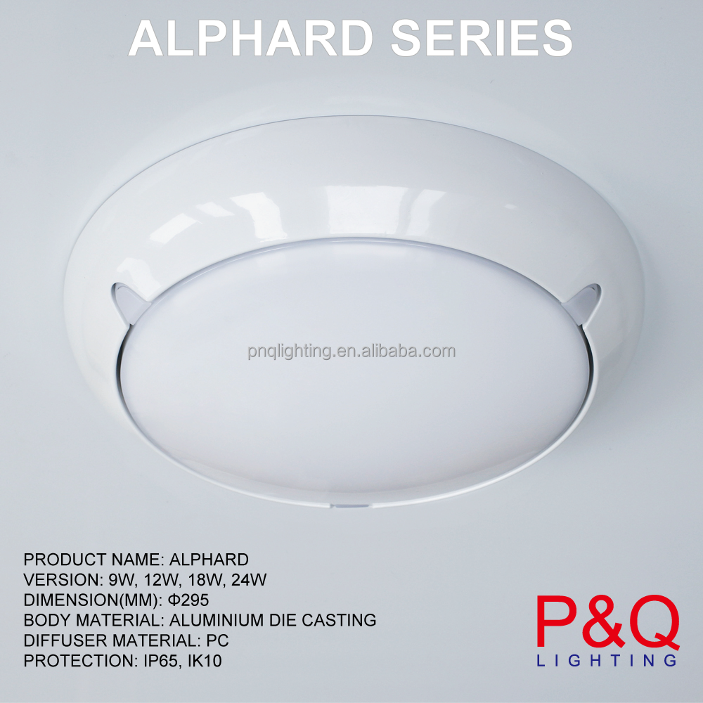 SHANGHAI FACTORY <strong>12</strong> INCH DIAMETER 295MM LARGE 60w led ceiling light ul FLUSH MOUNTED