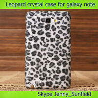Mobile phone case Leopard crystal back cover case for samsung galaxy note ,for samsung galaxy note cases