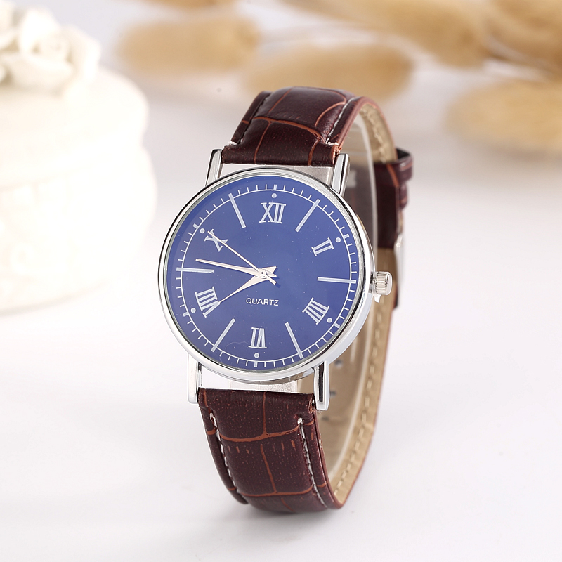 unisex fashion casual stainless steel case back leather strap watch design your own watch oem custom