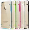 Factory price crystal clear transparent tpu pc hard cell phone case for iphone 6 iphone 6plus