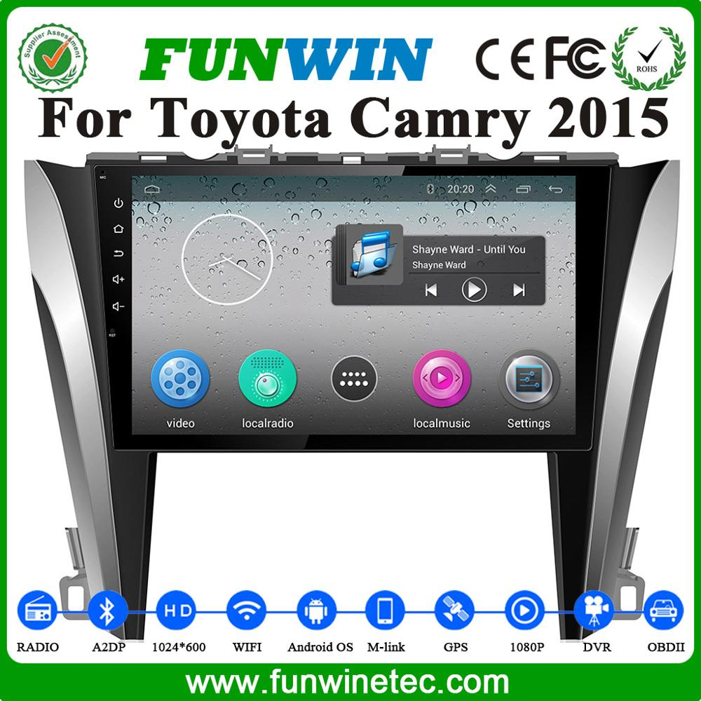 Wholesale Newest Quad Core Cortex A9 Pure Andriod 4.4 Car Radio For Toyota Camry 2012-2015 HD 1024*600