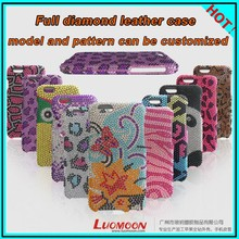 Customized Diamond Bumper + Back Phone Case for Iphone 5 Iphone5s