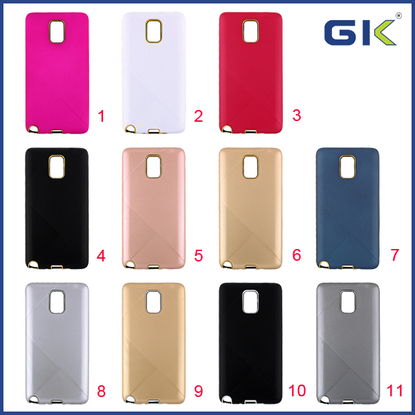 [GGIT] Electroplating Twill Grain 2 in 1 TPU+PC Combo Case For Samsung Galaxy Note 3 Celulares Cover