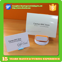 CMYK printing EM plastic discount gift card with cardholder in China