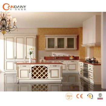 Latest kitchen cabinet design,oak solid wood kitchen cabinet door