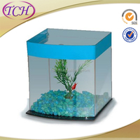 2015 Hot selling custom acrylic vertical aquarium , cylindrical acrylic fish tank