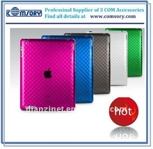 Soft jacket for iPad 2 TPU case for Ipad 2 slim-fit flex case for Ipad skin case for tablet crystal clear diamond pattern
