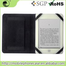 Best Sell High Quality 4 Elastics Secure Device Flip Cover Case For Amazon Kindle Touch 6 inch