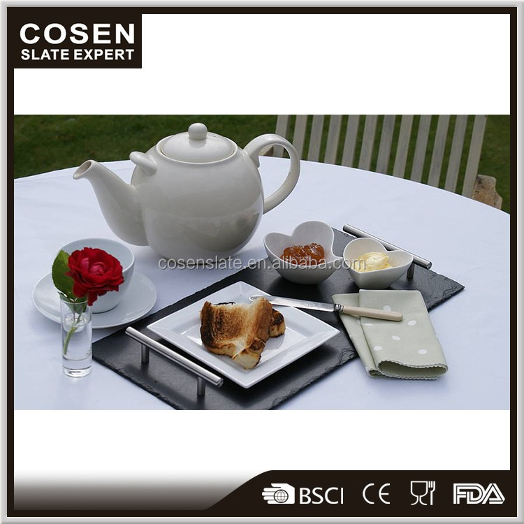 Gold supplier China custom wholesale banquet serving slate tray