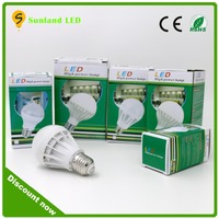 2016 new CE RoHS certificated wholesale products 3W 5W 7W 9W 12W led bulb light plastic led bulb light e27 b22 3w led light bulb