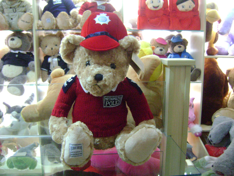 40cm soft stuffed police bobby bear soft toy bear toy with red uniform and cap