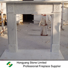 Fire Surround Italian Carrara Marble Fireplace Surround Mantel