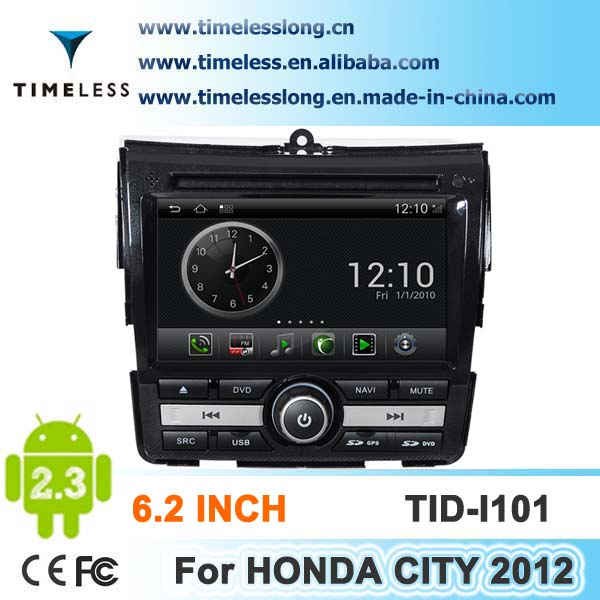 Android system 2 din Car DVD for HONDA CITY 2012 with GPS, Ipod, DVR,digital TV box, BT, 3G/Wifi(TID-I101)
