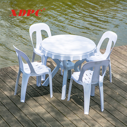 sale cheap used restaurant banquet patio garden picnic outdoor plastic round dining tables and chairs