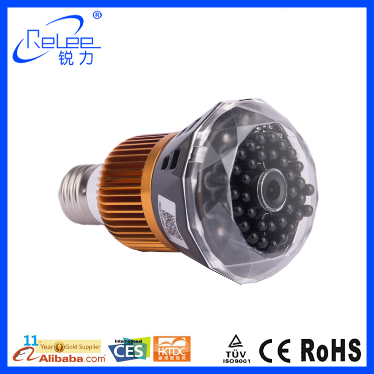 New hot products 160 degrees spy light bulb hidden camera