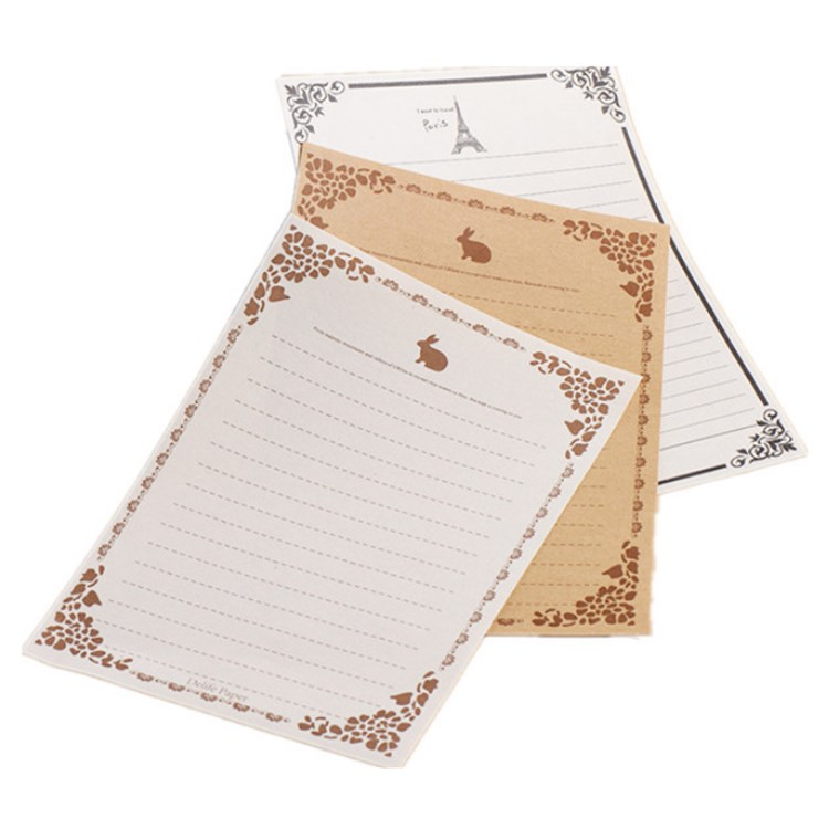 New arrival A4 recycle with custom logo large gift old writing paper