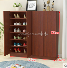 practice home used modern wood shoe cabinet for high heels