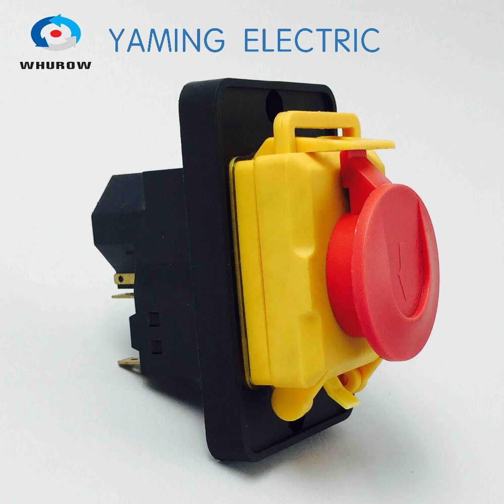 Yaming electric Electromagnetic switch Momentary Push Button Protective cover <strong>Ignition</strong> switch 3P 7 Pin 440V YCZ4-A
