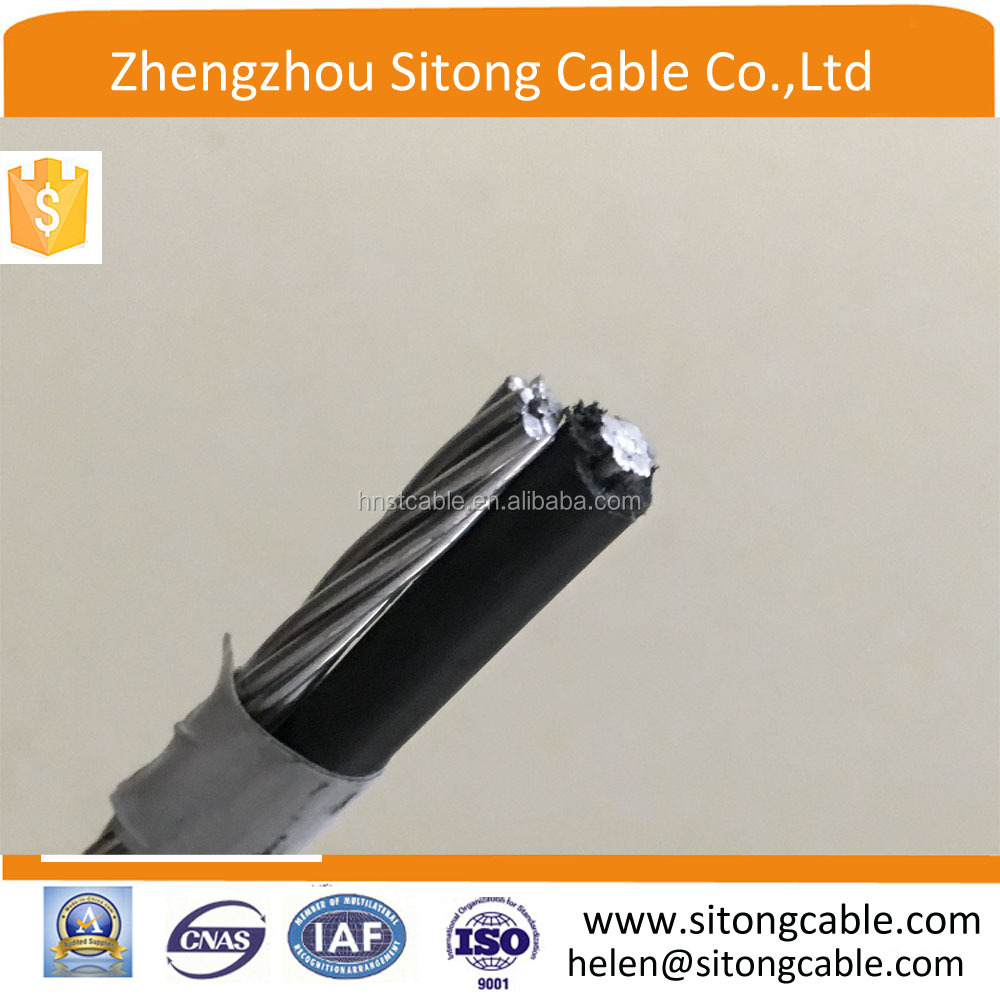 0.6/1Kv Duplex wire /XLPE insulated Electrical ABC cable Terrier /Whippet/Harrier 1x4AWG+4AWG