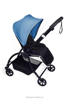 blue carriage 3 reclines with braking system multi-function complied EN1888:2012 new design buggy for baby care in high quality
