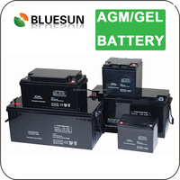 Bluesun high quality long life use 12v 180ah sealed rechargeable lead acid battery