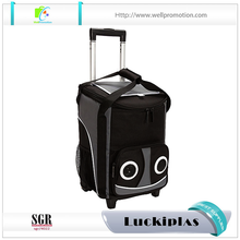 Wholesale bluetooth rolling speaker trolley cooler bag with wheels