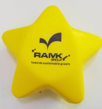 70*35mm polyurethane PU star stress reliever/custom printed PU foam anti stress star/stress toy PU star shape