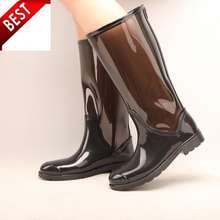 Women Middle height Rain Boots for Mature Ladies Pvc Clear EVA Rain Boots