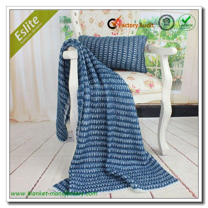 Hot Selling Melee Acrylic Mohair Throw Blanket