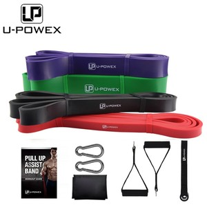 Fitness latex yoga power resistance pull up assist bands set