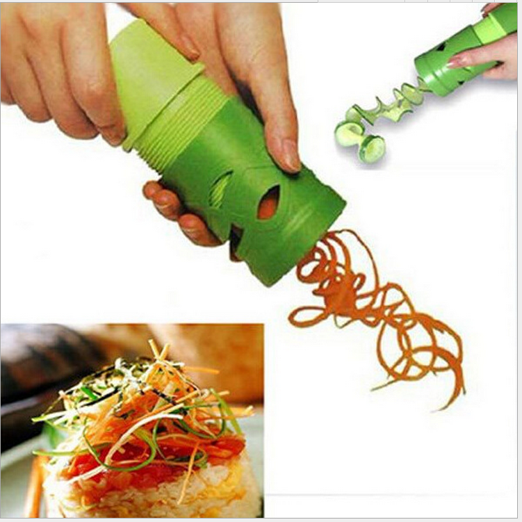 Vegetable Fruit Spiral Shred Funnel Process Device Cutter Slicer Peeler Kitchen Tool Slicer julienne cutter