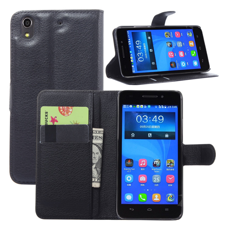 Factory Price Stand Wallet flip Cover Credit card flip case for Acer Z630 In Stock