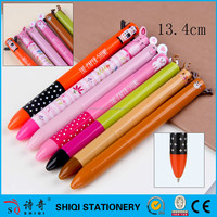 Cute noverty cartoon character ball pen color change two color ball pen