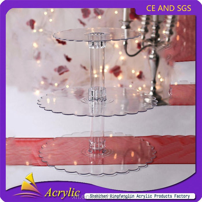 3 Tier High Quality Lighted Acrylic Cupcake Stand For Wedding