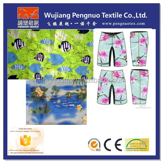 High Quality New Fashion Polyester Microfiber Board Shorts Fabric