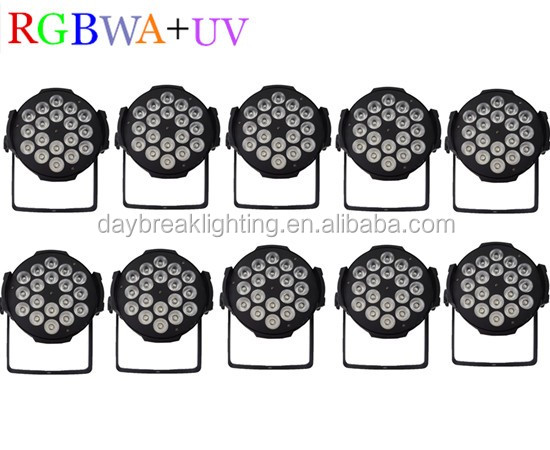 10PCS led stage par light RGBWA UV led par6in1 DISCO dmx512 LED high power washer lighting theater led bar <strong>6</strong>/10CHS brightness