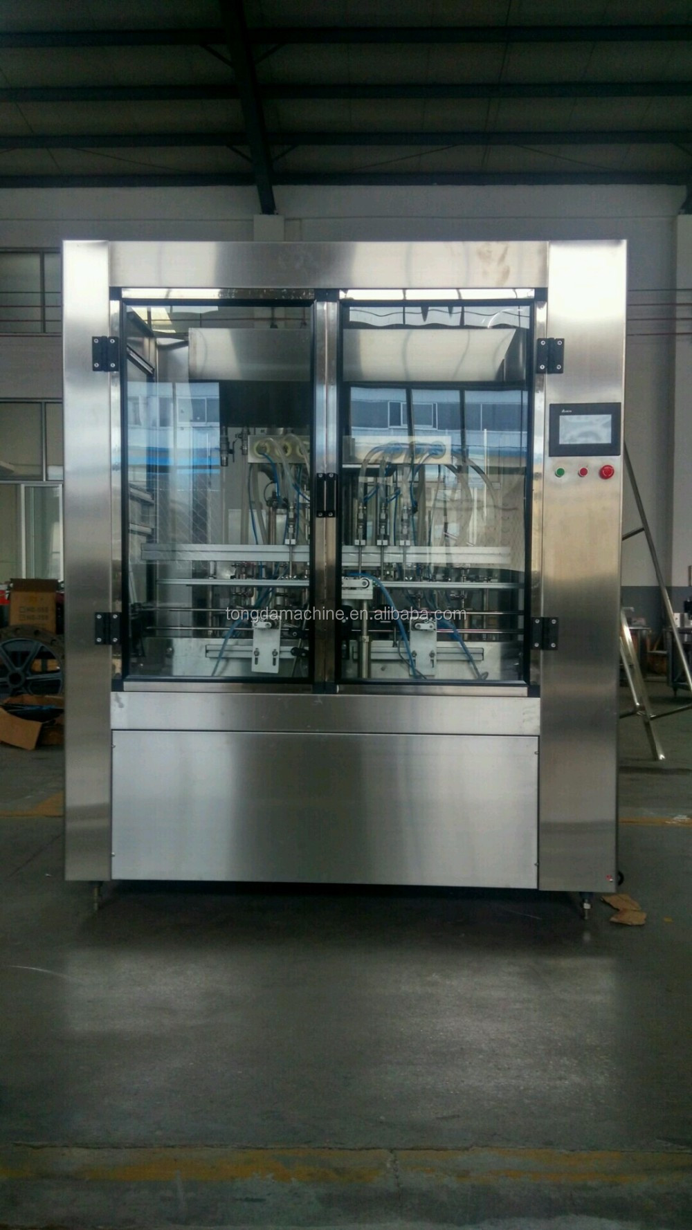 bottled liquid soap filling machine, automatic filling robot