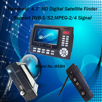 "Handheld 4.3"" HD Digital Satellite Finder built in Rechargeable Battery support DVB-S/S2,MPEG -2/4 Signal"