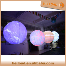 9 planets globe balloon giant led light inflatable earth for event