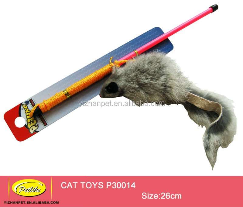 good sell funny cat teaser stick toy cat wand with mouse