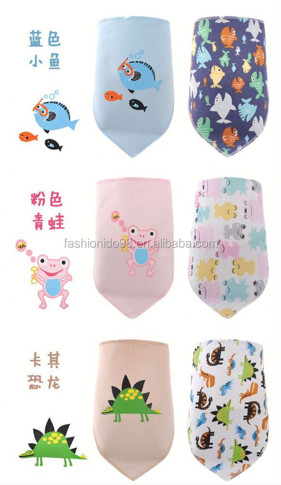 2014 hot sell cheap promotional custom print waterproof baby bibs baby scarf pattern