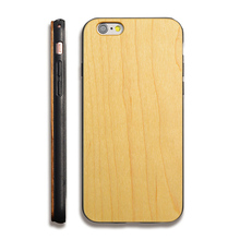 High Quality Wood Phone Case For Custom Logo Attachment Black Wood Cover for iPhone Wood TPU Case For iPhone 6,6s,6sPlus