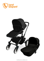 kids buggys with carrycot adaptors and comfortable fabric metarials on the landlleopard brand bbay strollers, factory prices