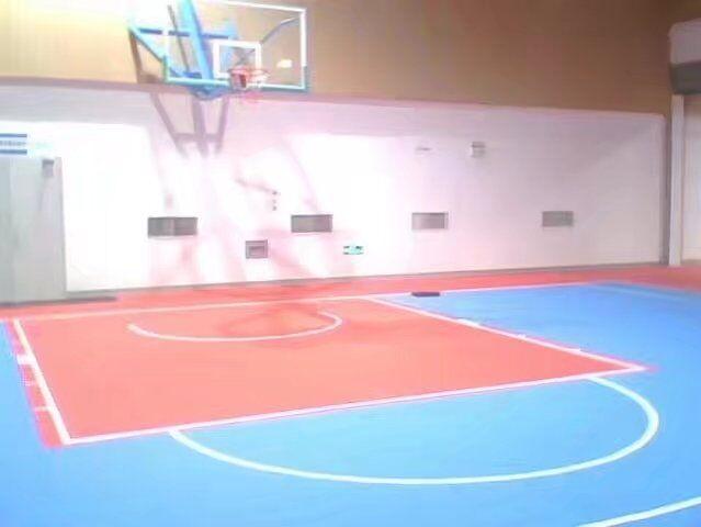 portable basketball flooring of plastic surface suspending flooring